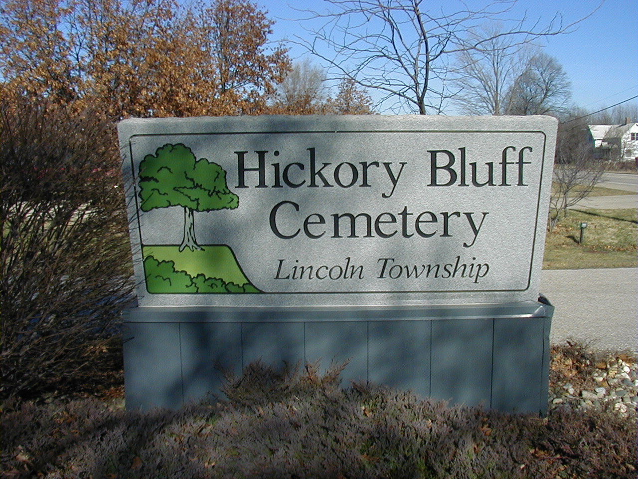 Hickory Bluff sign